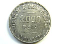 1907 BRAZIL SILVER 2000 REIS.VF  J 286 silver coins ,  brazil  silver coin  , ,silver bullion coin
