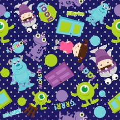 Monsters Inc Wallpaper Wallpaper Iphone Disney, Cool Wallpaper, Pattern Wallpaper, Wallpaper Backgrounds, Disney Love, Disney Art, Disney Pixar, Disney Monsters, Monsters Inc