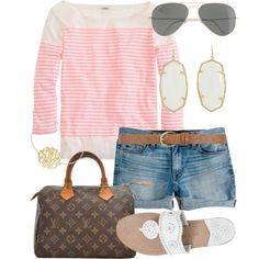Shopping Sunday by alexkay98 on Polyvore featuring J.Crew, Jack Rogers, Louis Vuitton, Kendra Scott and Dorothy Perkins