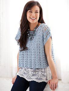 Casual Summer Top  - Crochet Summer Tops for Women