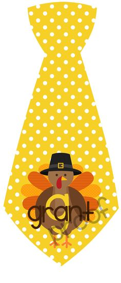 Thanksgiving Tie Printable Personalized  Iron on by MagicbyMarcy, $8.00