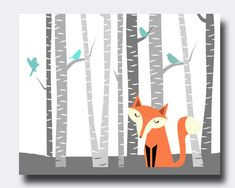 Another Etsy fox print that I love for the nursery.