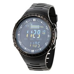 Docooler Waterproof Outdoor Fishing Watch Altimeter Barometer Thermometer Multifunctional Digital Wristwatch * Continue to the product at the image link. (This is an affiliate link and I receive a commission for the sales) Weather Instruments, Multifunctional, Fishing, Watches, Digital, Image Link, Stuff To Buy, Outdoors, Sports