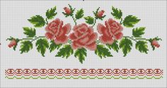 This Pin was discovered by zey Cross Stitch Cards, Cross Stitch Rose, Cross Stitch Flowers, Cross Stitch Designs, Cross Stitch Patterns, Fabric Paint Designs, Bead Loom Patterns, Bargello, Christmas Cross
