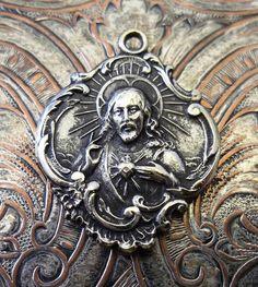 Vintage St Joseph Catholic Italian Medal Protector Of
