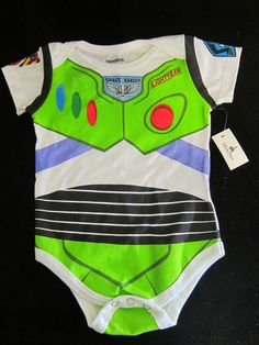 Disney Buzz Lightyear Infant Boys Onesie Outfit Toy Story Size 12 months ~ New $12 Free Shipping