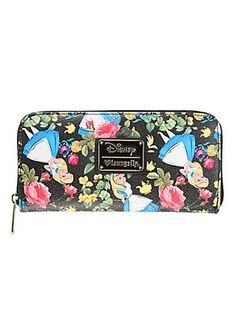 Loungefly Disney Alice In Wonderland Floral Zip Wallet,