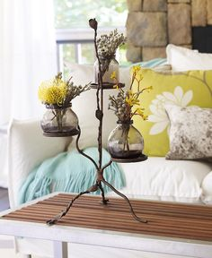 I LOVE this iron stand! Use as shown, or for candles, or as a server. Very versatile. via http://athomewithwillowhouse.tumblr.com/post/30136837884/the-new-willow-spring-tiered-stand-has-just#