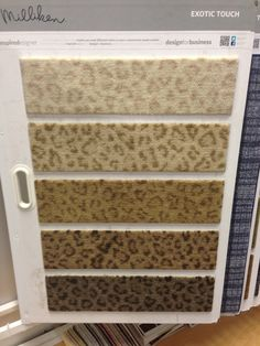 Leopard carpet samples...omg...hahah I didn't even know this existed..