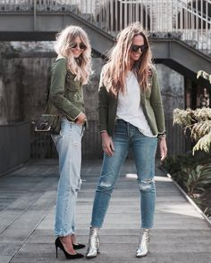 b56df8f6c28 Elle   Tash are wearing personalised Patrizia Pepe khaki fringed shirts  (here are all the letters you can use to personalise) Elle is wearing  Patrizia.