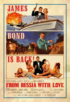 *m. Illustrated 007 - The Art of James Bond: FRWL Poster Tribute