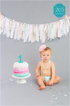 Girl Smash Cake for Reese!   Birmingham, AL Children Photographer