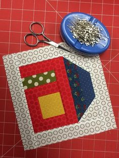 Put all those small scraps in your stash to good use with this adorable house quilt block pattern + tutorial, available for FREE right here!