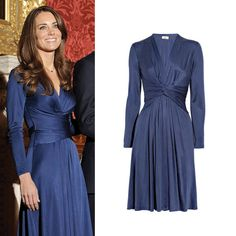 Kate Middleton - Blue Issa London Dress at Engagement Announcement. Surely I can find a knock off somewhere!