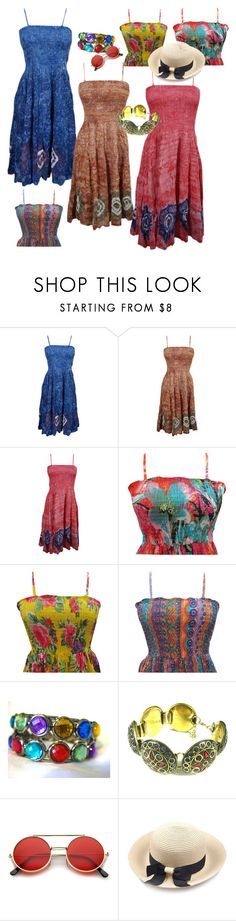 """Holiday Beach Dresses"" by era-chandok ❤ liked on Polyvore"
