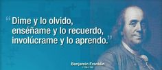 Aprender ... Benjamin Franklin, Interesting Quotes, Amazing Quotes, Teaching Spanish, Education Quotes, Me Quotes, Coaching, Mens Sunglasses, Motivation