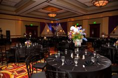 Monte Carlo themed party room and table decor
