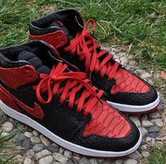 "ea96e4c1ef72 Nike Air Jordan 1 High ""Banned Python"" Nike Mag"