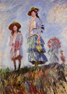 The Promenade (study). Claude Monet, 1886.
