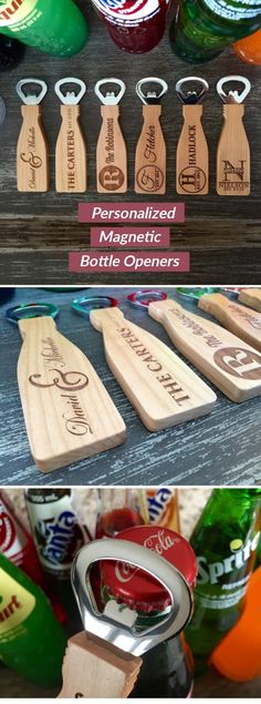 If you are looking for a beautiful, simple, personalized, thoughtful gift idea look no further! These incredible, personalized bottle openers make the perfect gift for any occasion. Gifts For Male Coworkers, Gifts For Family, Gifts For Boss Male, Homemade Christmas Gifts, Christmas Crafts, Xmas, Craft Gifts, Diy Gifts, Holiday Fun
