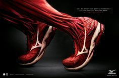 Mizuno Pro Runner 5 muscle ad Only we study your body so thoroughly before making a running shoe.
