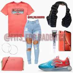 Swag Outfits For Girls, Cute Swag Outfits, Cute Comfy Outfits, Teen Fashion Outfits, Teenager Outfits, Nike Outfits, Girl Fashion, Casual Outfits, Summer Outfits