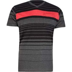 DISTORTION Element Stripe Mens T-Shirt.