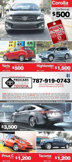 Anuncio prensa Procars Toyota
