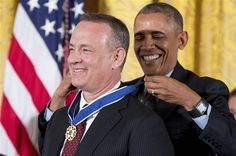 Barack Obama, Tom Hanks