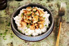 Szupergyors csípős csirkefalatok Potato Salad, Cauliflower, Shrimp, Potatoes, Meat, Vegetables, Ethnic Recipes, Minden, Kitchen