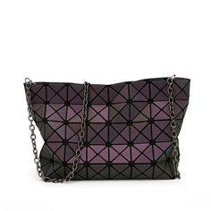803c9e2f0bc0 2016 Famous Brands Women BaoBao Bag Geometry Sequins Mirror Saser Plain Folding  shoulder Bags Chain Luminous
