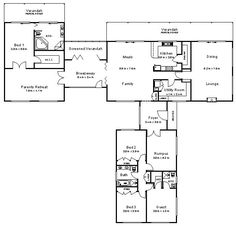 l-shaped house plans - Google Search