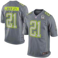 Arizona Cardinals #21 Patrick Peterson Grey 2014 Pro Bowl NFL Elite Team Sanders Jersey 2014 Pro Bowl