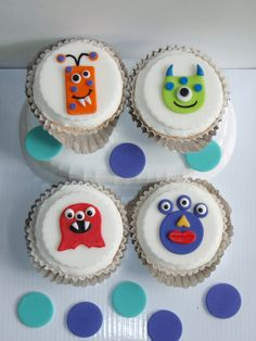 Monster Edible Fondant Cupcake Topper by KonfectionKreations, $16.00