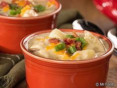 Baked Potato Soup - This homemade soup recipe is the perfect way to say cozy and warm this winter.