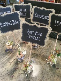 chalkboard signs | via Etsy; wedding signage DPNAK weddings
