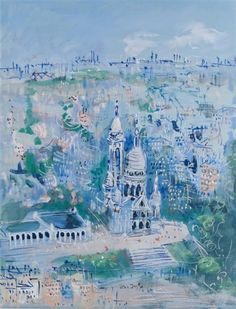 Jean Dufy - Paris, Watercolor