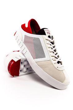 Y-3 Lazelle FTW White_Scarlet_Black #Y3 #adidas #yohjiyamamoto