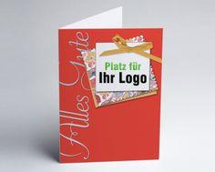 #Logokarte #Grusskarte Alles Gute in rot