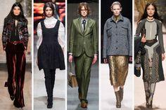 From left to right: Emilio Pucci, Alberta Ferretti, Gucci, No. 21 and Etro. Photos: Imaxtree