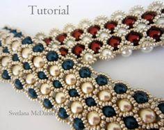 PDF tutorial beaded lace earrings_Swarovski by BeadsMadness