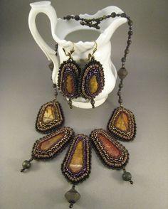 Halskette und Ohrringe OrientTräume Jaspis in von BeadFizz auf Etsy, €110.00