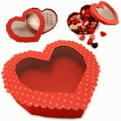 Silhouette Online Store - View Design #54766: 3d heart candy or gift card box