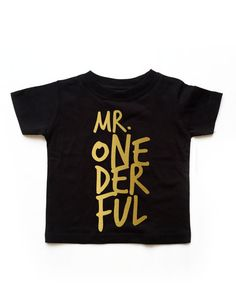 READY TO SHIP Black Boy Mr. Onederful Tee Classy and by PDS113