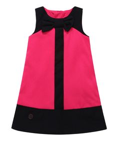 Look at this Pink Color Block Wool-Blend Shift Dress - Infant, Toddler & Girls on #zulily today!