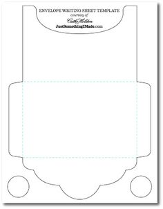 for photo: Envelope Writing Sheets: Free Images! Envelope Writing, Diy Envelope, Envelope Book, Diy Paper, Paper Crafts, Card Templates, Envelope Templates, Templates Free, Card Envelopes
