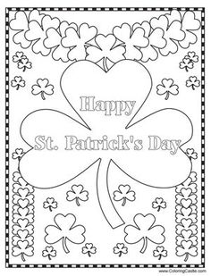9 Best St. Patrick's Day Coloring Pages images in 2012