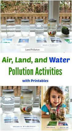 Teaching Kids About Pollution Air Land Water Pollution Activities Printables Earth Day Activities Earth Day Ideas Montessori Reggio Perfect Earth Day Activities, Science Activities For Kids, Preschool Themes, Stem Activities, Science Ideas, Earth Day Kindergarten Activities, April Preschool, Science Books, Computer Science