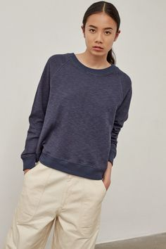 Sweat Shirt, Pullover, Navy, Collection, Sweaters, How To Wear, Shirts, Outfits, Style
