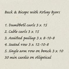 Back and biceps with kelsey byer